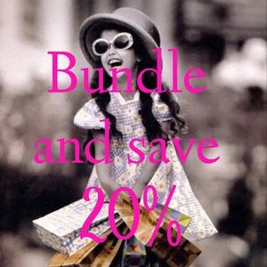 Bundle any 2 items or more and save 20%